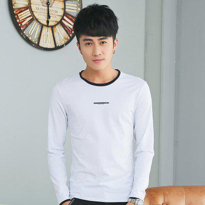 Mens Personality hit Color Round Neck Long Sleeve Slim T-ShirtMens T-shirts<br>Mens Personality hit Color Round Neck Long Sleeve Slim T-Shirt<br><br>Collar: Round Neck<br>Material: Cotton<br>Package Contents: 1 x T-Shirt<br>Pattern Type: Print<br>Sleeve Length: Full<br>Style: Casual<br>Weight: 0.1800kg