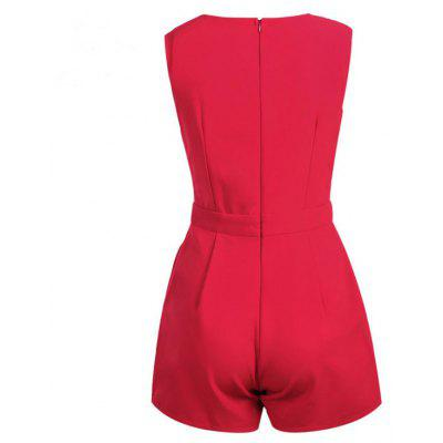 Womens Playsuit V Neck Sleeveless Solid Sexy PlaysuitJumpsuits &amp; Rompers<br>Womens Playsuit V Neck Sleeveless Solid Sexy Playsuit<br><br>Elasticity: Elastic<br>Fabric Type: Broadcloth<br>Fit Type: Regular<br>Material: Polyester<br>Package Contents: 1 X  Playsuit<br>Package weight: 0.2000 kg<br>Pattern Type: Solid<br>Style: Sexy<br>With Belt: No