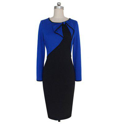 Womens Dress Color Block Patchwork Midi DressLong Sleeve Dresses<br>Womens Dress Color Block Patchwork Midi Dress<br><br>Dresses Length: Knee-Length<br>Elasticity: Elastic<br>Fabric Type: Broadcloth<br>Material: Polyester<br>Neckline: Round Collar<br>Package Contents: 1 X DRess<br>Pattern Type: Solid<br>Season: Fall<br>Silhouette: Sheath<br>Sleeve Length: Long Sleeves<br>Style: Bohemian<br>Weight: 0.3000kg<br>With Belt: No