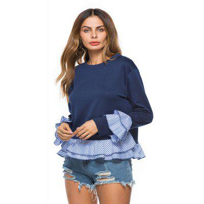 WomenS Fashion Stitching Round Neck Long Sleeve SweatshirtTees<br>WomenS Fashion Stitching Round Neck Long Sleeve Sweatshirt<br><br>Collar: Round Neck<br>Elasticity: Micro-elastic<br>Embellishment: Spliced<br>Fabric Type: Worsted<br>Material: Cotton, Polyester<br>Package Contents: 1 x Sweatshirt<br>Pattern Type: Patchwork<br>Shirt Length: Regular<br>Sleeve Length: Full<br>Sleeve Type: Flare Sleeve<br>Style: Fashion<br>Weight: 0.2700kg