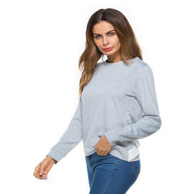 WomenS Clothing Fashion Lotus Leaf Stitching Long-Sleeved SweatshirtTees<br>WomenS Clothing Fashion Lotus Leaf Stitching Long-Sleeved Sweatshirt<br><br>Collar: Round Neck<br>Elasticity: Micro-elastic<br>Embellishment: Spliced<br>Fabric Type: Worsted<br>Material: Cotton, Polyester<br>Package Contents: 1 x Sweatshirt<br>Pattern Type: Patchwork<br>Shirt Length: Regular<br>Sleeve Length: Full<br>Style: Casual<br>Weight: 0.2700kg