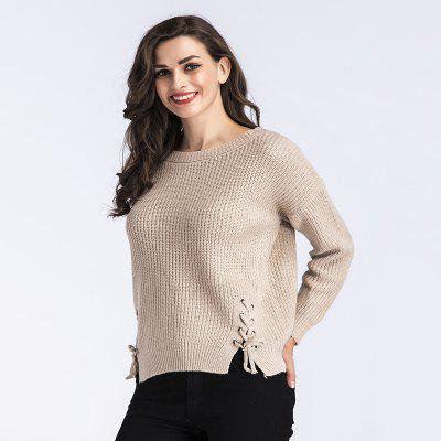 WomenS Fashion Belt Long-Sleeved Knitted SweaterSweaters &amp; Cardigans<br>WomenS Fashion Belt Long-Sleeved Knitted Sweater<br><br>Collar: Round Neck<br>Elasticity: Super-elastic<br>Material: Acrylic<br>Package Contents: 1XSweater<br>Sleeve Length: Full<br>Style: Fashion<br>Type: Pullovers<br>Weight: 0.3500kg