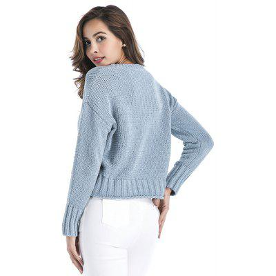 WomenS Clothing Fashion Personality Long-Sleeved Knitted SweaterSweaters &amp; Cardigans<br>WomenS Clothing Fashion Personality Long-Sleeved Knitted Sweater<br><br>Collar: Round Neck<br>Elasticity: Elastic<br>Material: Acrylic<br>Package Contents: 1XSweater<br>Sleeve Length: Full<br>Style: Fashion<br>Type: Pullovers<br>Weight: 0.3500kg