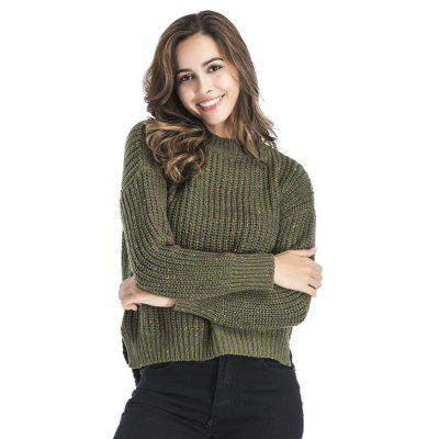 WomenS Fashion Round Neck Under The Open Long-Sleeved Knitted SweaterSweaters &amp; Cardigans<br>WomenS Fashion Round Neck Under The Open Long-Sleeved Knitted Sweater<br><br>Collar: Round Neck<br>Elasticity: Elastic<br>Material: Acrylic<br>Package Contents: 1XSweater<br>Sleeve Length: Full<br>Style: Fashion<br>Type: Pullovers<br>Weight: 0.4000kg