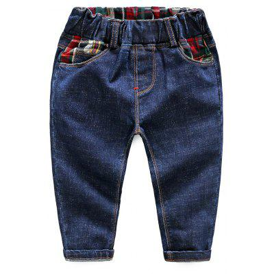 Autumn Edition Children Jean 3-8 Years Old Thin Loose Cotton Boys Slim Pants