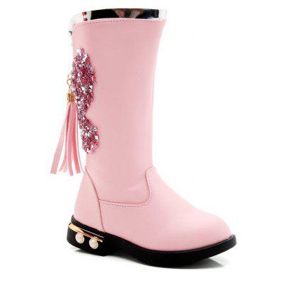 Buy PINK 30 Boots 2017 Autumn Winter New Martin Boots High Boots Tube in Datongjia Princess Cashmere Cotton Boots Tide for $54.00 in GearBest store