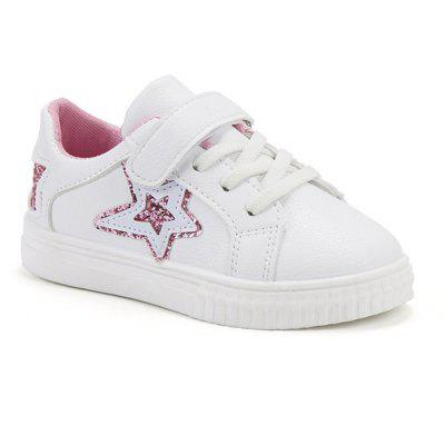 Children Running Shoes Casual PU Star Print Kid's Sneakers