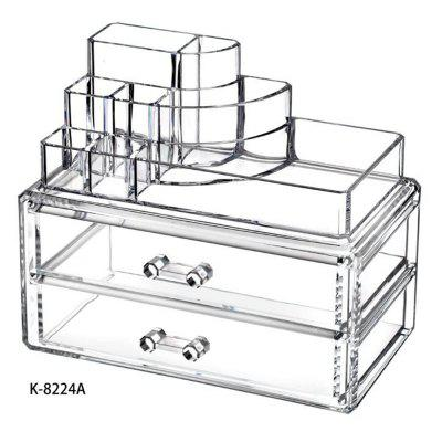 Buy TRANSPARENT Clear Acrylic Cosmetic Organizer Makeup Container Storage Gift for Couple for $21.11 in GearBest store