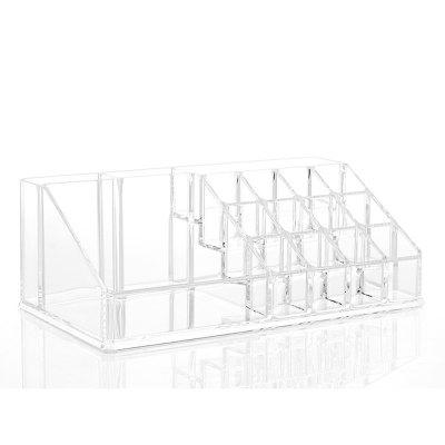 Buy TRANSPARENT 16 Cells Acrylic Cosmetic Organizer Lipstick Makeup Holder Jewelry Storage The Perfectionist 20 Compartment for $13.37 in GearBest store