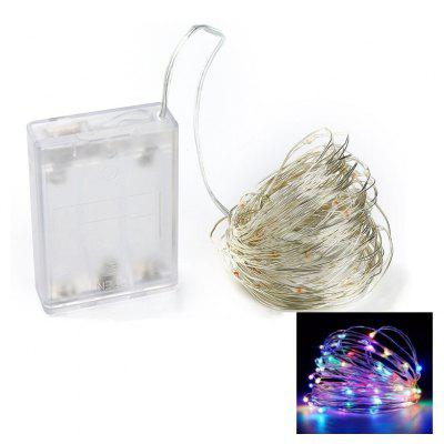 10M 100-LED Silver Wire Strip Light Battery Operated 1PC