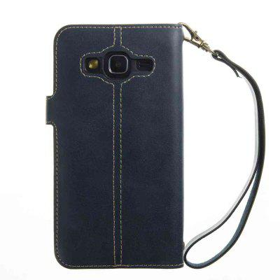 Crazy Horse Pattern Retro Leather Phone Case for Samsung Galaxy J3 2016 / 2015Samsung J Series<br>Crazy Horse Pattern Retro Leather Phone Case for Samsung Galaxy J3 2016 / 2015<br><br>Features: Full Body Cases, With Credit Card Holder, With Lanyard, Dirt-resistant<br>For: Samsung Mobile Phone<br>Functions: Camera Hole Location<br>Material: PU Leather, TPU<br>Package Contents: 1 x Phone Case<br>Package size (L x W x H): 14.20 x 7.30 x 1.60 cm / 5.59 x 2.87 x 0.63 inches<br>Package weight: 0.0550 kg<br>Style: Retro, Solid Color, Novelty<br>Using Conditions: Skiing,Cruise
