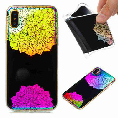 Flash Powder Painted  Powder Painte Colorful TPU Phone Case for Iphone X