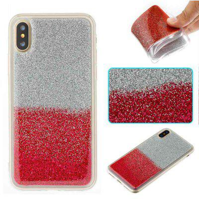 Flash Powder Painted Two-Color TPU Phone Case for Iphone X