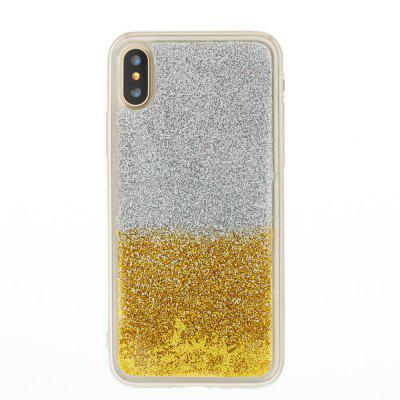 Flash Powder Painted Two-Color TPU Phone Case for Iphone XiPhone Cases/Covers<br>Flash Powder Painted Two-Color TPU Phone Case for Iphone X<br><br>Compatible for Apple: iPhone X<br>Features: Back Cover<br>Material: TPU<br>Package Contents: 1 x Phone Case<br>Package size (L x W x H): 14.30 x 7.00 x 1.00 cm / 5.63 x 2.76 x 0.39 inches<br>Package weight: 0.0410 kg<br>Style: Novelty