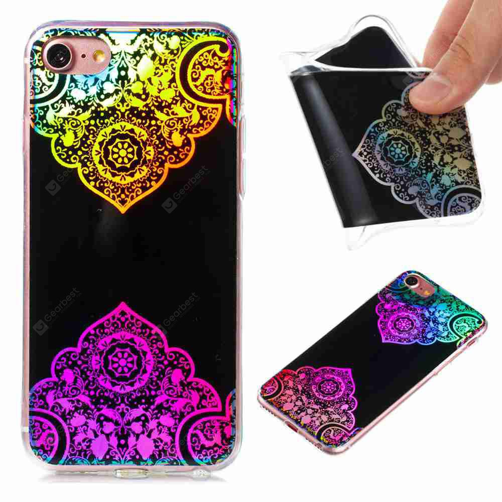 Flash Powder Painted Colorful TPU Phone Case for Iphone 7 / 8