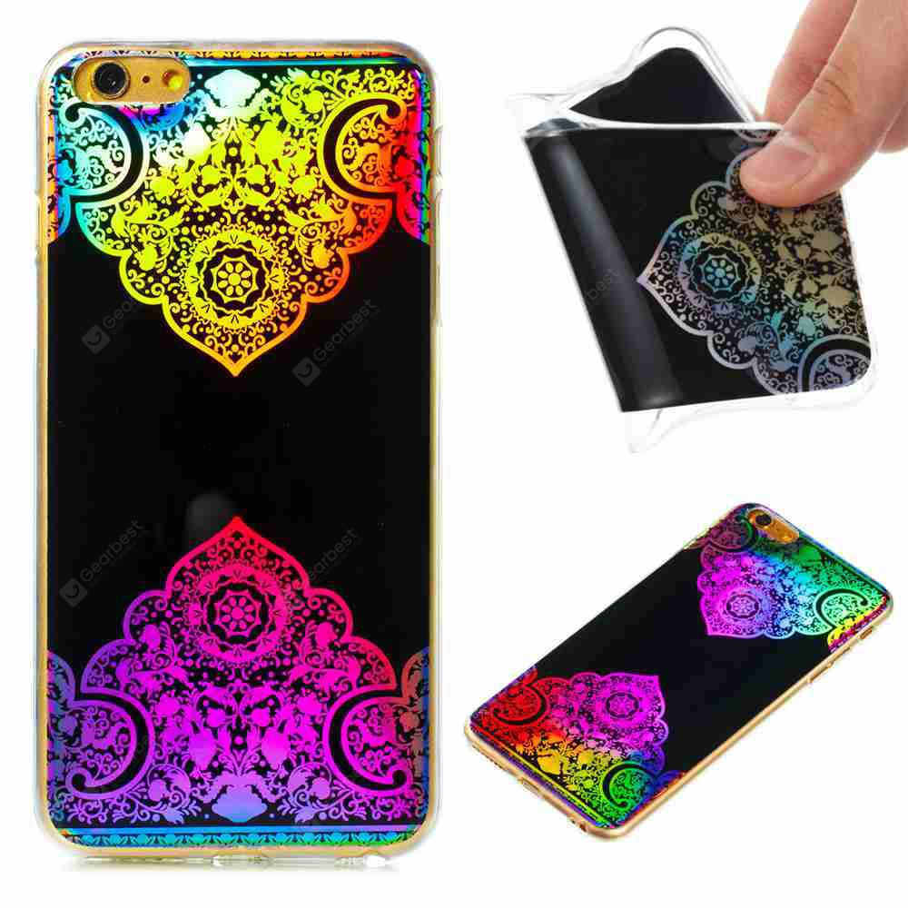 Flash Powder Painted Colorful TPU Phone Case for Iphone 6 Plus / 6S Plus