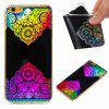 Flash Powder Painted Colorful TPU Phone Case for Iphone 6 Plus / 6S Plus - BLACK AND ROSE RED