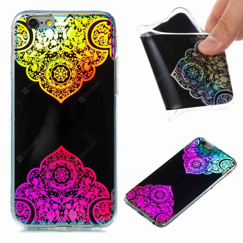 Flash Powder Painted Colorful TPU Phone Case for Iphone 6 / 6S