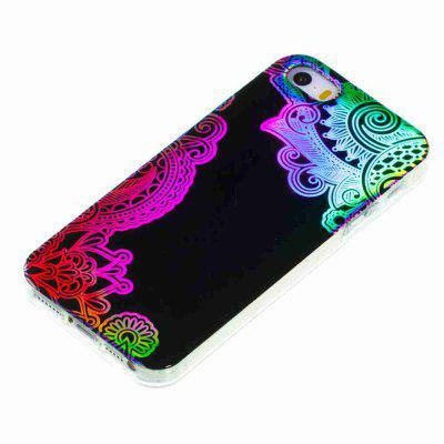 где купить  Flash Powder Painted Colorful TPU Phone Case for Iphone 5 / 5S / Se  дешево