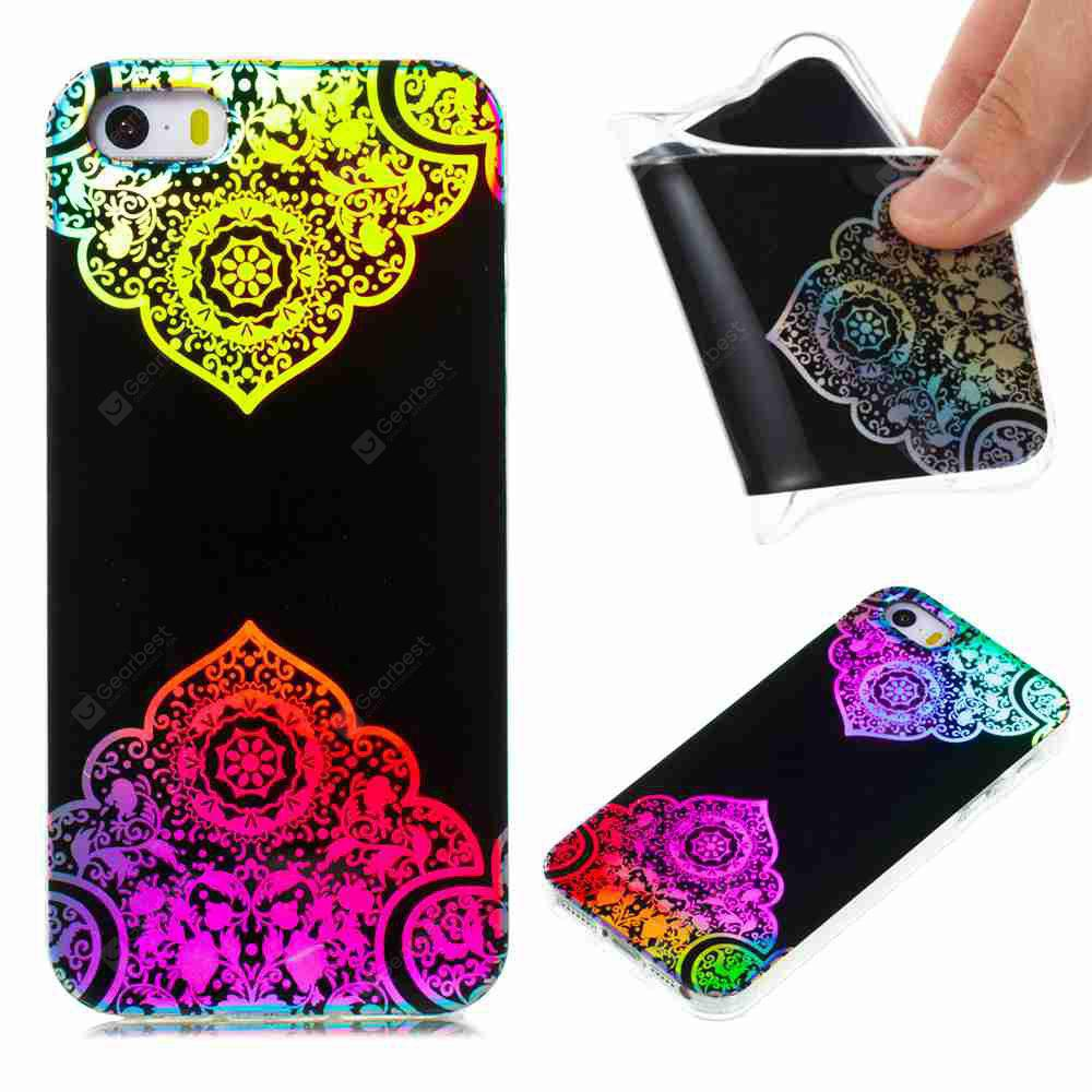 Flash Powder Painted Colorful TPU Phone Case for Iphone 5 / 5S / Se