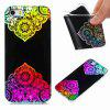 Flash Powder Painted Colorful TPU Phone Case for Iphone 5 / 5S / Se - BLACK AND ROSE RED