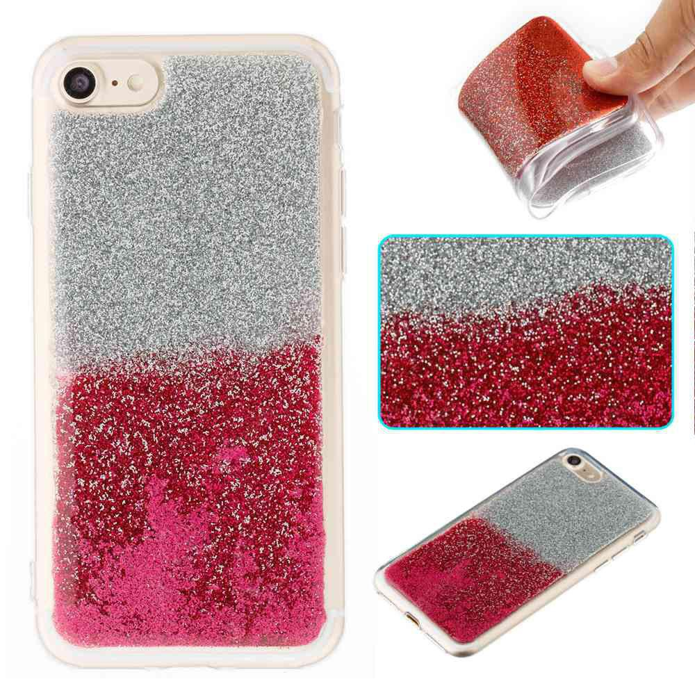 Flash Powder Painted Two-Color TPU Phone Case for Iphone 7 / 8