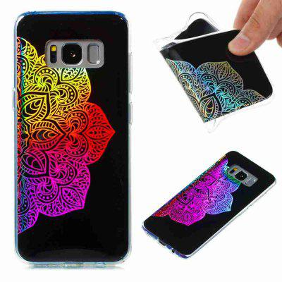 Flash Powder Painted Colorful Coque TPU pour Samsung Galaxy S8