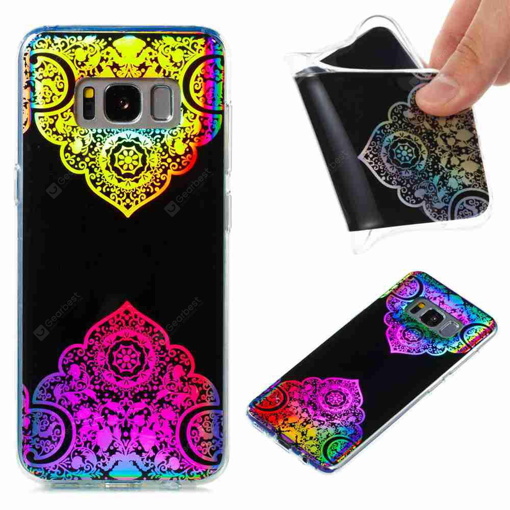 Flash Powder Painted Colorful TPU Phone Case for Samsung Galaxy S8