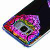 Flash Powder Painted Colorful TPU Phone Case for Samsung Galaxy S8 - BLACK AND ROSE RED