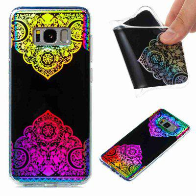 Flash Powder Painted  Colorful TPU Phone Case for Samsung Galaxy S8 Plus