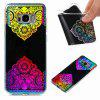 Flash Powder Painted  Colorful TPU Phone Case for Samsung Galaxy S8 Plus - BLACK AND ROSE RED