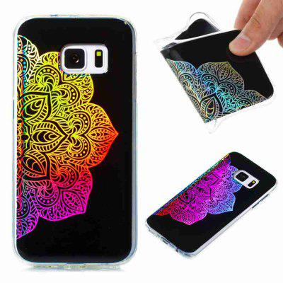 Flash Powder Painted Colorful Coque TPU pour Samsung Galaxy S7