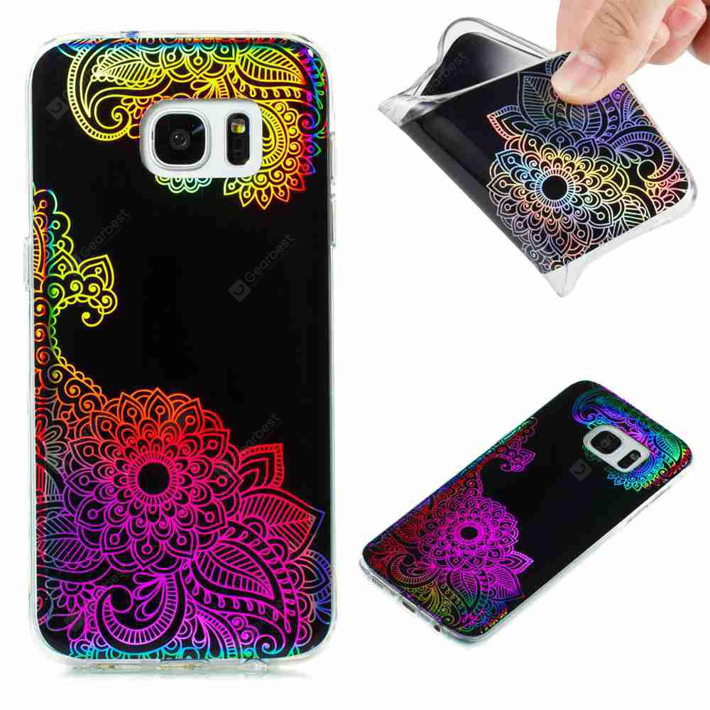 Flash Powder Painted Colorful TPU Phone Case for Samsung Galaxy S7 Edge