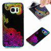Flash Powder Painted Colorful TPU Phone Case for Samsung Galaxy S7 Edge - BLACK AND PURPLE