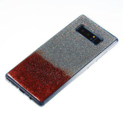 Flash Powder Painted Two-Color TPU Phone Case for Samsung Galaxy Note 8Samsung Note Series<br>Flash Powder Painted Two-Color TPU Phone Case for Samsung Galaxy Note 8<br><br>Compatible for Samsung: Samsung Galaxy Note 8<br>Features: Back Cover<br>For: Samsung Mobile Phone<br>Material: TPU<br>Package Contents: 1 x Phone Case<br>Package size (L x W x H): 16.50 x 7.50 x 1.00 cm / 6.5 x 2.95 x 0.39 inches<br>Package weight: 0.0410 kg<br>Style: Novelty