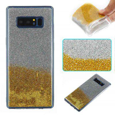 Flash Powder Painted bicolore TPU Phone Case pour Samsung Galaxy Note 8