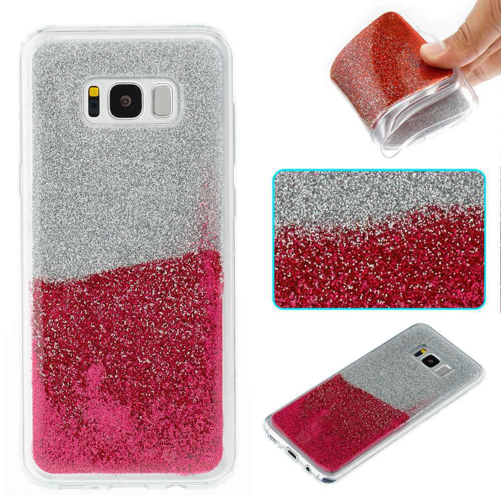 Flash Powder Painted Two-Color TPU Phone Case for Samsung Galaxy S8 Plus