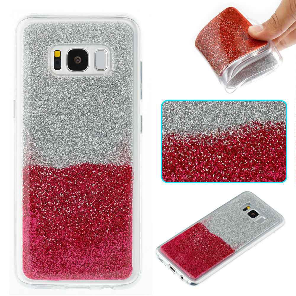 Flash Powder Painted Two-Color TPU Phone Case for Samsung Galaxy S8