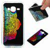 Flash Powder Painted  Colorful TPU Phone Case for Samsung Galaxy J3 2016 / 2015 - BLACK AND RED