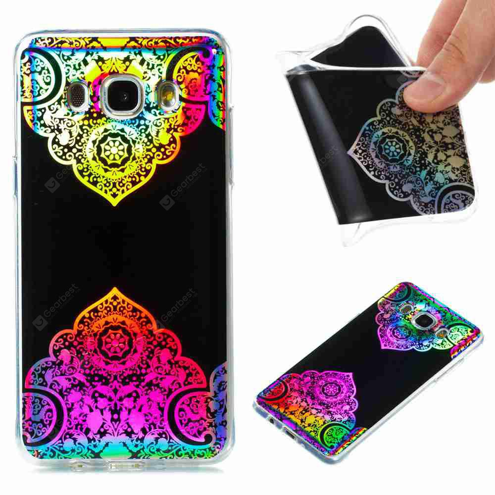 Flash Powder Painted Colorful TPU Phone Case for Samsung Galaxy J5 2016