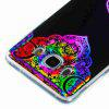 Flash Powder Painted Colorful TPU Phone Case for Samsung Galaxy J5 2016 - BLACK AND ROSE RED