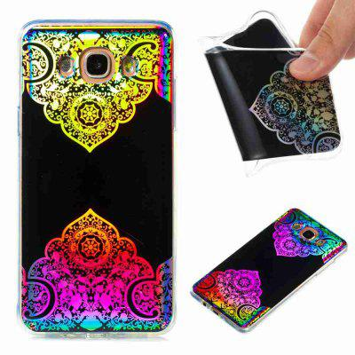 Flash Powder Painted  Colorful TPU Phone Case for Samsung Galaxy J7 2016