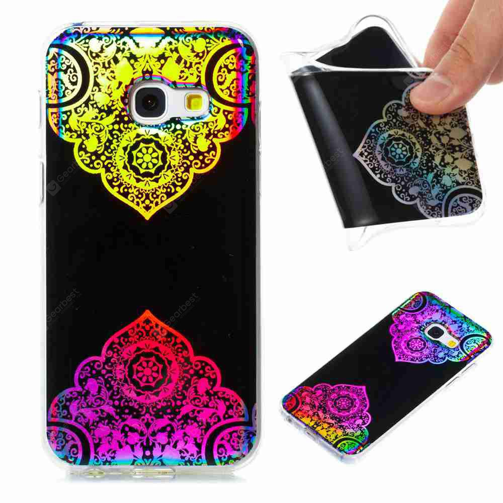 Flash Powder Painted  Colorful TPU Phone Case for Samsung Galaxy A3 2017
