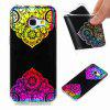 Flash Powder Painted  Colorful TPU Phone Case for Samsung Galaxy A3 2017 - BLACK AND ROSE RED