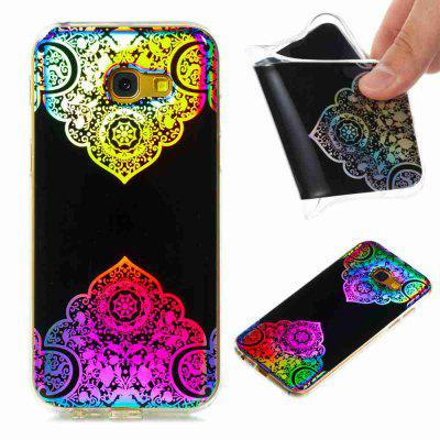 Flash Powder Painted Colorful TPU Phone Case for Samsung Galaxy A5 2017