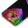 Flash Powder Painted Colorful TPU Phone Case for Samsung Galaxy A5 2017 - BLACK AND ROSE RED