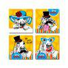 DYC 10092 4PCS Cartoon Dogs Print Art Ready to Hang Paintings - COLORMIX
