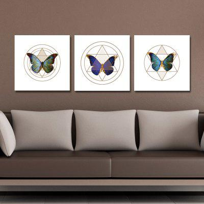 DYC 10093 3PCS Butterflies Print Art Ready to Hang PaintingsPrints<br>DYC 10093 3PCS Butterflies Print Art Ready to Hang Paintings<br><br>Brand: DYC<br>Craft: Oil Painting<br>Form: Three Panels<br>Material: Canvas<br>Package Contents: 1 x Set of Print Arts<br>Package size (L x W x H): 34.00 x 34.00 x 8.00 cm / 13.39 x 13.39 x 3.15 inches<br>Package weight: 1.1000 kg<br>Painting: Include Inner Frame<br>Product size (L x W x H): 30.00 x 30.00 x 6.00 cm / 11.81 x 11.81 x 2.36 inches<br>Product weight: 0.7000 kg<br>Shape: Horizontal Panoramic<br>Style: New Arrival, Modern / Contemporary, Oil Painting<br>Subjects: Animal<br>Suitable Space: Garden,Living Room,Bedroom,Dining Room