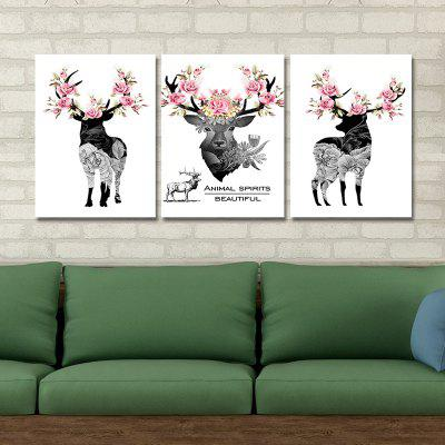 DYC 10098 3PCS Deer Wearing Flowers on Head Print Art Ready to Hang PaintingsPrints<br>DYC 10098 3PCS Deer Wearing Flowers on Head Print Art Ready to Hang Paintings<br><br>Brand: DYC<br>Craft: Oil Painting<br>Form: Three Panels<br>Material: Canvas<br>Package Contents: 1 x Set of Print Arts<br>Package size (L x W x H): 34.00 x 44.00 x 8.00 cm / 13.39 x 17.32 x 3.15 inches<br>Package weight: 1.3000 kg<br>Painting: Include Inner Frame<br>Product size (L x W x H): 30.00 x 40.00 x 6.00 cm / 11.81 x 15.75 x 2.36 inches<br>Product weight: 0.9000 kg<br>Shape: Horizontal Panoramic<br>Style: New Arrival, Modern / Contemporary, Classic<br>Subjects: Animal<br>Suitable Space: Hotel,Kids Room,Hallway,Kids Room