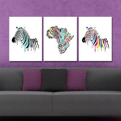 DYC 10099 3PCS Color Zebras Print Art Ready to Hang PaintingsPrints<br>DYC 10099 3PCS Color Zebras Print Art Ready to Hang Paintings<br><br>Brand: DYC<br>Craft: Oil Painting<br>Form: Three Panels<br>Material: Canvas<br>Package Contents: 1 x Set of Print Arts<br>Package size (L x W x H): 34.00 x 44.00 x 8.00 cm / 13.39 x 17.32 x 3.15 inches<br>Package weight: 1.3000 kg<br>Painting: Include Inner Frame<br>Product size (L x W x H): 30.00 x 40.00 x 6.00 cm / 11.81 x 15.75 x 2.36 inches<br>Product weight: 0.9000 kg<br>Shape: Horizontal Panoramic<br>Style: New Arrival, Animal<br>Subjects: Animal<br>Suitable Space: Bedroom,Dining Room,Kids Room,Kids Room